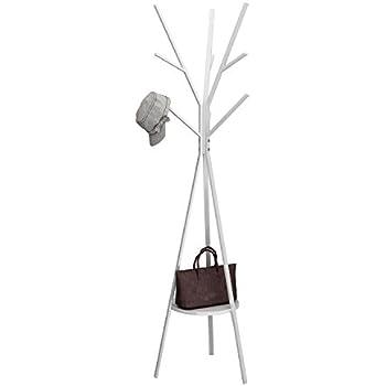 Amazon.com: Perchero de metal, soporte para ropa de pie ...