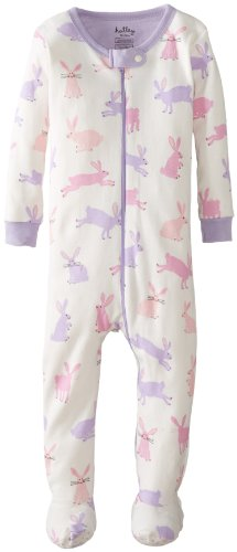 Hatley   Baby Baby Girls' Footed Coverall Soft Bunnies, White, 12 18 Months
