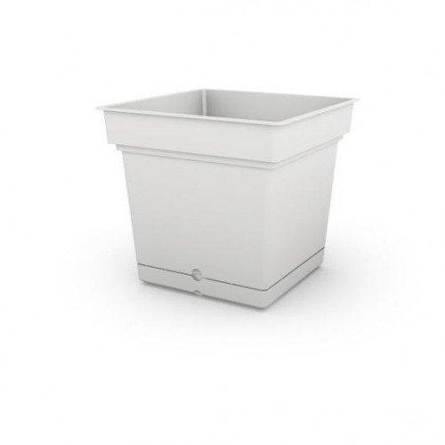 Bianco Still Elements Teraplast Vaso quadrato in resina di qualit/à Made in Italy con riserva dacqua 38cm