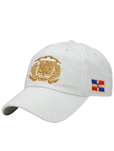 f96cb914868b8f PeligroSports Fashion Dominican Shield DatHats Hats - Sports and Fashion  caps (White/Gold)