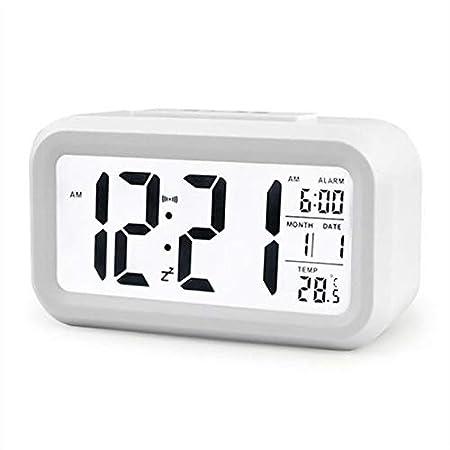 PXQOV Reloj De Alarma Digital Led Silencioso Despertador Reloj De ...