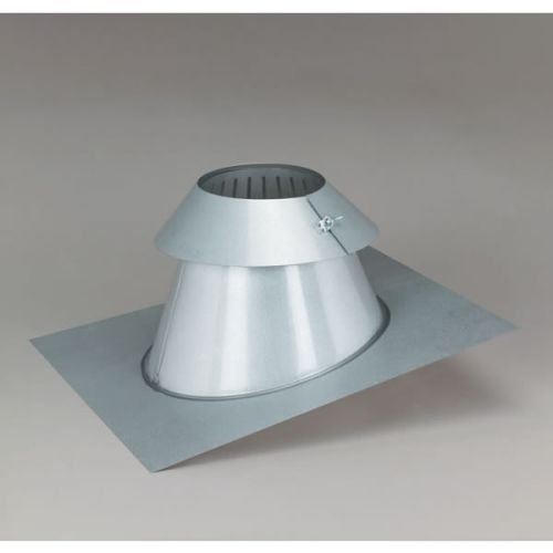 Chimney 77667 6 in. SuperPro All-Fuel Steep-Pitch Roof Flashing with Storm Collar for Chimney Pipes (Support Fuel Chimney Roof)