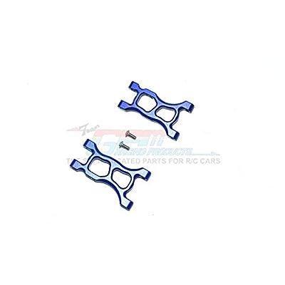 GPM Traxxas LaTrax SST & LaTrax Teton Upgrade Parts Aluminum Front/Rear Suspension Arm - 1Pr Blue: Toys & Games