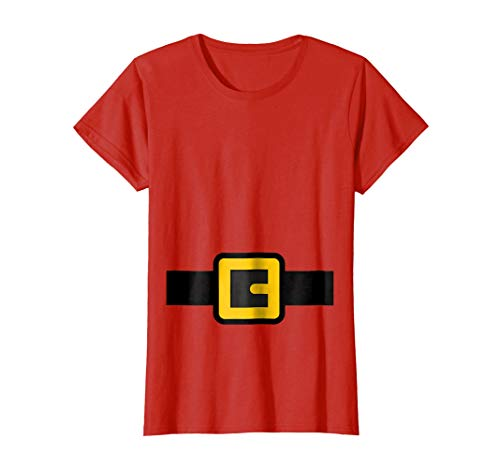 Womens Dwarf Costume Shirt, Halloween Matching Shirts for Group Small Red ()