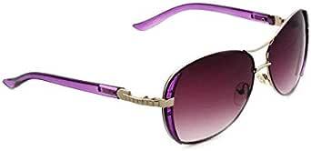 Women Fashion Flat Top Sunglasses Out door Anti-Reflective Sunglasses Purple