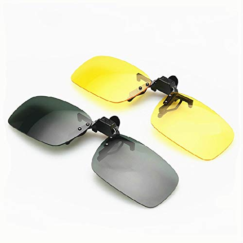 Best Design Sunglasses Clips Wo Drivers Driving Night Vision Goggles Can Be Flipped, Security Sun Glasses - Sunglasses On Amber, Pcs Sunglasses, Sunglasses Polarized In Everything ()