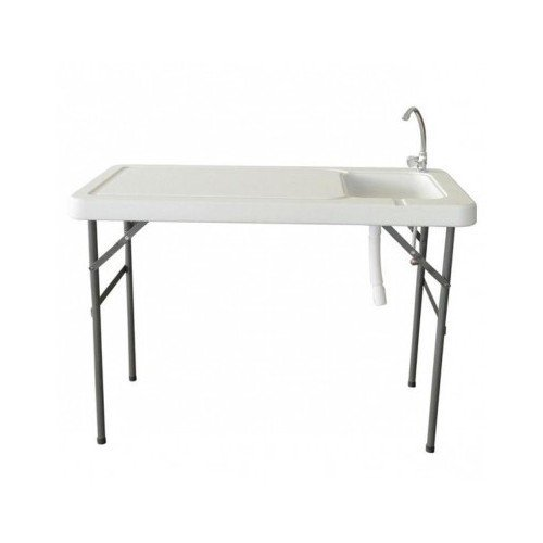 Portable Foldable Sink with Chrome Plated Faucet, Game Fish Cleaning Table for Camping or Hunting by Larin B00MDJ4E7G