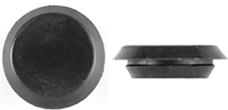100 3/8 BLACK PLASTIC FLUSH TYPE HOLE PLUGS 3/4HEAD Auto Parts and Vehicles