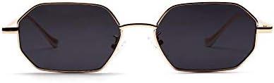 ASLD Lunettes de soleil femmes rétro classique petit polygone lunettes de soleil hommes femmes luxe Vintage noir miroirs couleur lentille transparente lunettes de soleil