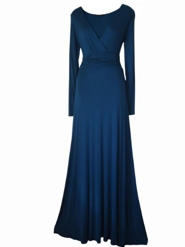 Look For The Stars Women's Long Sleeved Evening Maxi Dress Teal 10