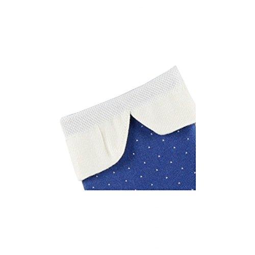 En Coton Socquettes Claudine Col Achile Plumetis Bleu ICUqwIXx