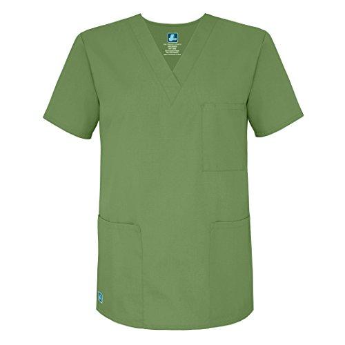 Adar Universal Unisex V-Neck Tunic 3 Pocket - 601 - Asparagus - 5X - Tooniform V-neck Tunic