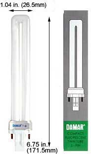 (Case of 20) Single Twin Tube Compact Fluorescent Lamps | F13TT/841/GX23