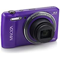 Minolta 20 Mega Pixels WiFi Digital Camera with 12x Optical Zoom & HD Video, 2.7-Inch LCD, Purple (MN12Z-P)