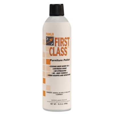 Franklin Cleaning Technology F801015 First Class Furniture Polish, Lemon, 15.5 oz Aerosol Can, 12/Carton