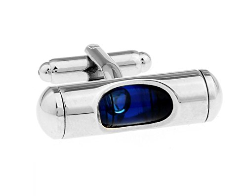 (LBFEEL Blue Level Cufflinks for Mens Shirt with a Gift Box)