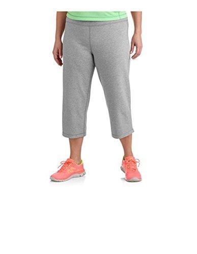 (Danskin Now Womens Plus-Size Dri-More Relaxed Capri Pants Gym Walking Yoga Run Errands (2X, Gray))