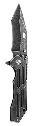 Kershaw New Lifter Tactical Modified Tanto Blade Folding Pocket Knife + Includes a Free Zombie Hunter Toxic Skull Knife