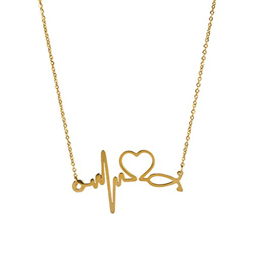 pusheng-stainless-steel-heartbeat-love-cardiogram-necklace-gold21