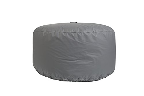 31YEgGdHVXL - Hip-Chik-Chairs-VCL03399-2094-Oversized-Tech-Leather-Round-Ottoman-Adult-Size-Grey