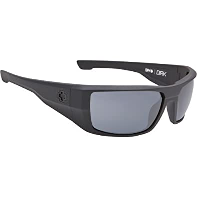 9d8700cd90 Spy Dirk Sunglasses Soft Matte Black with Happy Grey Green Polarized Lens   Amazon.co.uk  Shoes   Bags