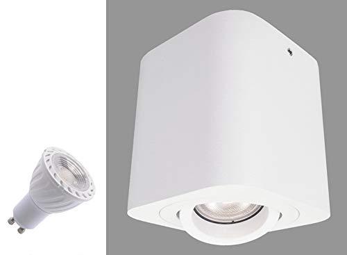 Budbuddy Focos para el techo LED lamparas de techo led Luces de Techo Plafón Focos de techo Lamparas con focos casquillo GU10 230V【incluye 6W bombillas ...