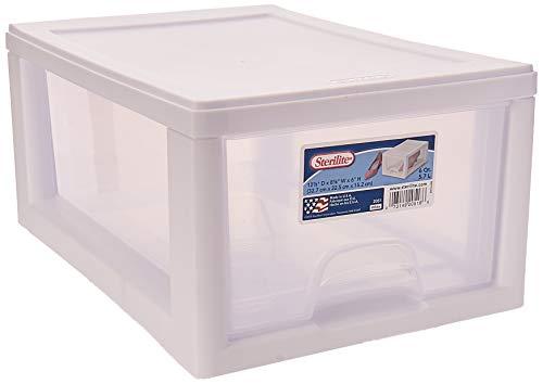 Sterilite 20518006PK2  Sackable Storage Drawer, Pack of 2 (Storage 2 Drawer Plastic)
