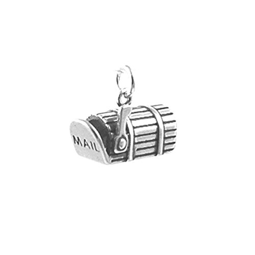 Sterling Silver 3D Non-Movable Mailbox Charm Item #91114