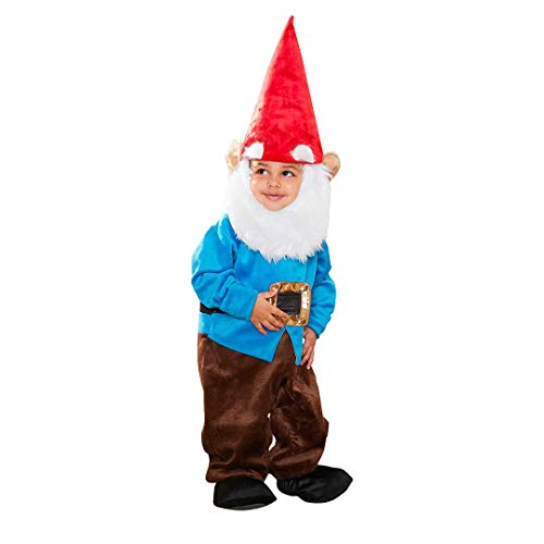 Chasing Fireflies Garden Gnome Costume for Baby(Includes Bodysuit, Beard, hat, Booties)