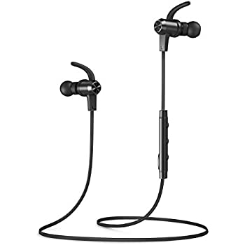 Bluetooth Headphones, VAVA MOOV 28 Wireless Headphones Sports Earphones in Ear Earbuds with 9 Hours Playtime (IPX6 Splashproof, aptX Stereo, Magnetic Aluminum Design, cVc 6.0 Noise Cancelling Mic)