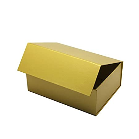 Geschenkkarton mit Magnetverschluss f/ür Geburtstage luxuri/öses Design A5-215 X 160 X 80 mm silber Hochzeiten oder Werbegeschenke Weihnachten