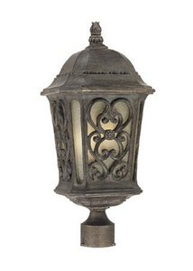 UPC 878925001828, Alico Lighting 517BC Acclaim Lighting Black Coral Finished Outdoor Postmount with Scavo Glass Shades