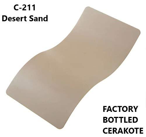 CERAKOTE C-Series - Air Cure Firearm Coating Factory Packaged 4 OZ Bottle (C-211: Desert ()