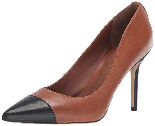Lauren Ralph Lauren Women's LINDELLA Shoe, DEEP Saddle TAN/Black, 9.5 B US