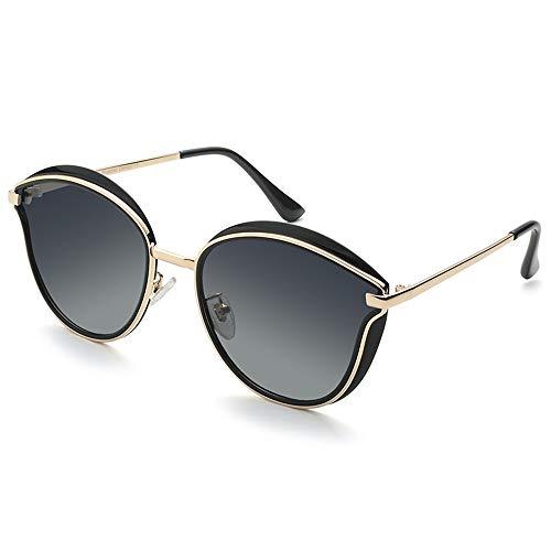 de Espejo al película Aire Tendencia de KHIAD de Sol Moda Sol de Gran Gafas Modelos polarizadas Femeninos Libre Caja conducción Color Gafas zqaF0