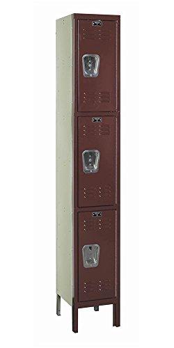 78 in. High 1-Wide 3-Tier Premium Knock-Down Locker in Maroon (12 in. W x 12 in. D x 78 in. H) -