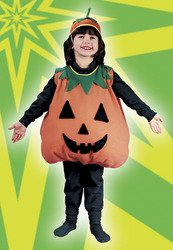 Pumpkin Costumes For Toddler (Pumpkin Toddler Plump Costume Large 3T-4T)