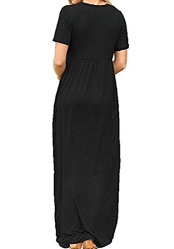 Short Long Dress Solid Full Colored Sleeve Length Women's Black Sleeve Coolred a5PqxwXzg