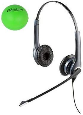 Jabra GN2000 Dual Speaker Quick Disconnect Wired Headset Bundle with Renewed Headsets Stress Ball Renewed