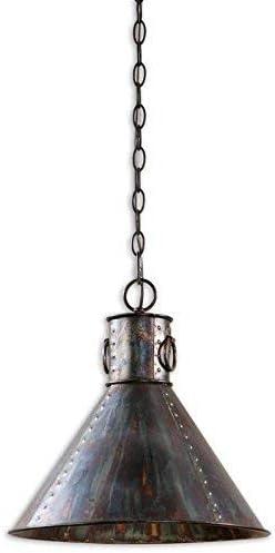 Uttermost 21923 Levone Rustic 1-Light Oxidized Bronze Pendant Lighting Fixture