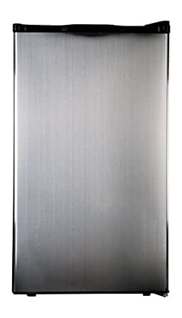 Haier HC40SG42SS 4 Cubic Feet Refrigerator/Freezer, Black Interior, Stainless Steel Door