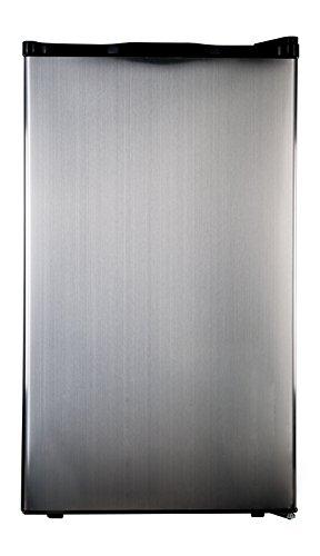 Haier HC40SG42SS 4 Cubic Feet Refrigerator/Freezer, Black...