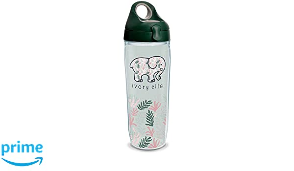 39abc860e22403 Amazon.com  Tervis 1318747 Ivory Ella - Multi Leaves Insulated Tumbler with  Wrap and Lid 24 oz Water Bottle Clear  Kitchen   Dining