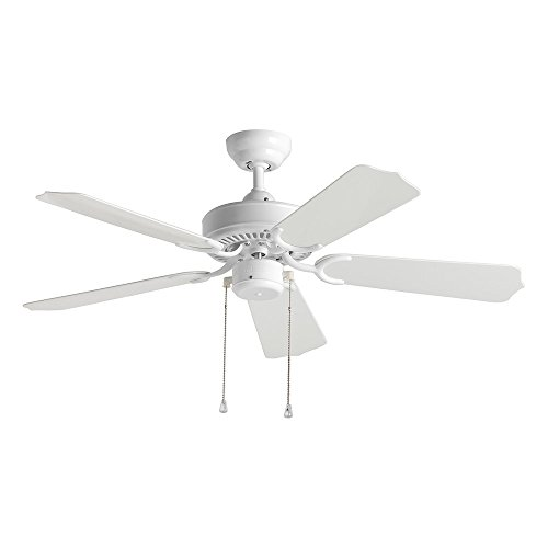 (Sea Gull Lighting 1525-15 Bayou 42-Inch, Five-Blade Outdoor Ceiling Fan, White Finish )