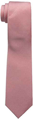 Ben Sherman Men's Core Solid 100% Silk Skinny Tie, Red, One Size