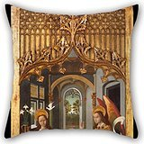 [Oil Painting Master Of La Seu D'Urgell - Annunciation Throw Pillow Covers ,best For Wedding,wife,kitchen,pub,monther,home Theater 16 X 16 Inches / 40 By 40 Cm(each] (Master Chief Suit For Sale)