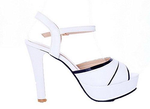 Boucle Talon Femme Haut Petite CCAFLP014075 Sandales à VogueZone009 Blanc Ouverture dT6qZYY