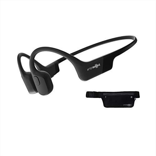 AfterShokz Aeropex Open Ear Wireless Bone Conduction hoofdtelefoon met sportriem, Cosmic Black
