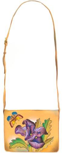 Nappaleder I aus Lou Zimbelmann Leder echtem Lili Umhängetasche Damen handbemalt vwqXPA