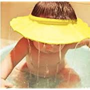 Safe Shampoo Shower Bathing Protect Soft Cap Hat for Baby Children Kids (Yellow)